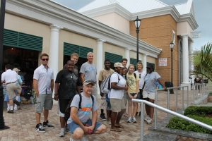 ALC staff at the Straw Market, downtown Nassau