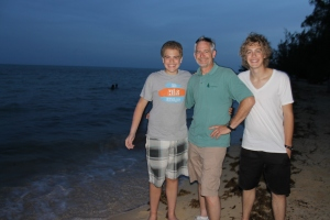 Our first night on the island- visit to South Beach (a mile from ALC)
