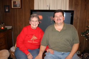 Jane and her nephew Greg Holliman.