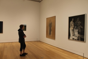 Logan enjoyed the modern art. (The far painting happened to be my favorite painting).