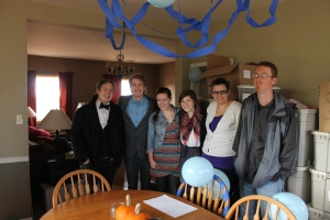 Logan's surprise party by Katy, Andrea, Garrett and Abby
