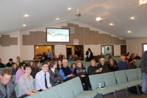 Sunday morning at Grace Church in Viroqua.  Our family and friends joined us for our commissioning service.