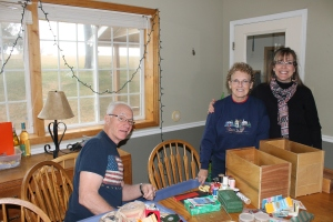"My parents helped me sort through a box of sewing ""junk"" on Saturday morning while we waited for the kids to arrive."