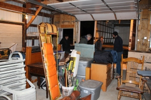 Tuesday night's loading of the things going to the Twin Cities for storage and delivery to others.