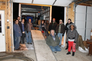 Our Tuesday night crew.  These are most, but not all of the wonderful people that came out to help us load the truck!  Thank you everyone for your hard work!