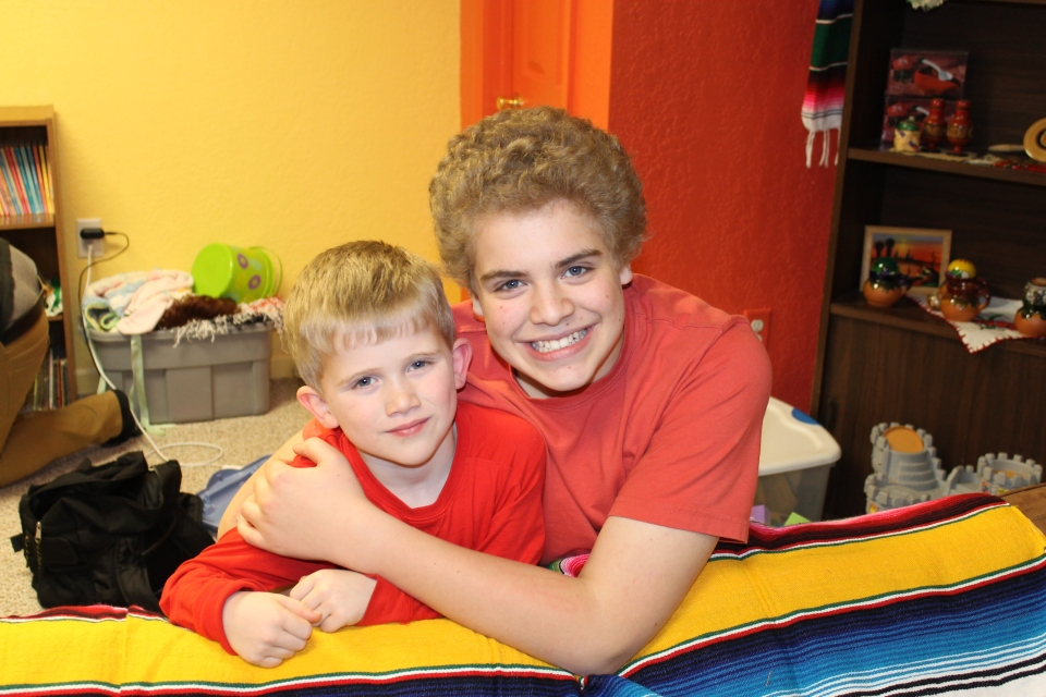 Zach with his buddy Kyle.