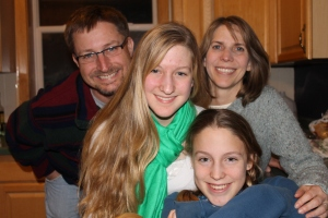 Adam, Carole, Sarah and Emily Miller came from the Twin Cities to visit us overnight at the end of December.