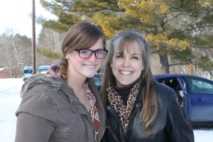 "Saying good-bye to another ""daughter"", Mandy Felten, after Winterama/Winter Recharger at LWBC."
