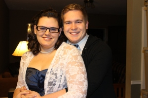 Abby Huffman and Garrett going to a New Years Eve party.