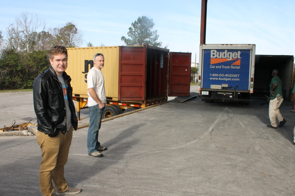 My nerves were shot, so I left Andrew and Garrett to supervise the loading of the container and went to wait in the office.