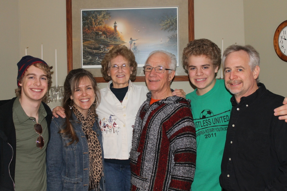 Friday morning, a tearful good-bye to my parents in Indiana as we left to head south.
