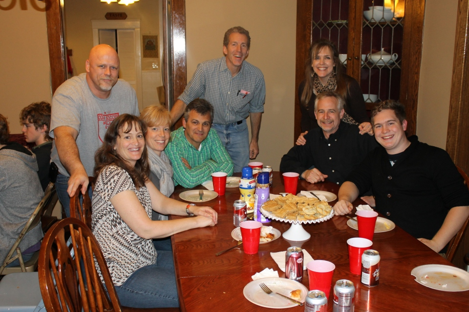 """The """"over 18 table"""".  Kurt and Lori Felten, Dave and Sandy Hart, Bruce Jung, us."""