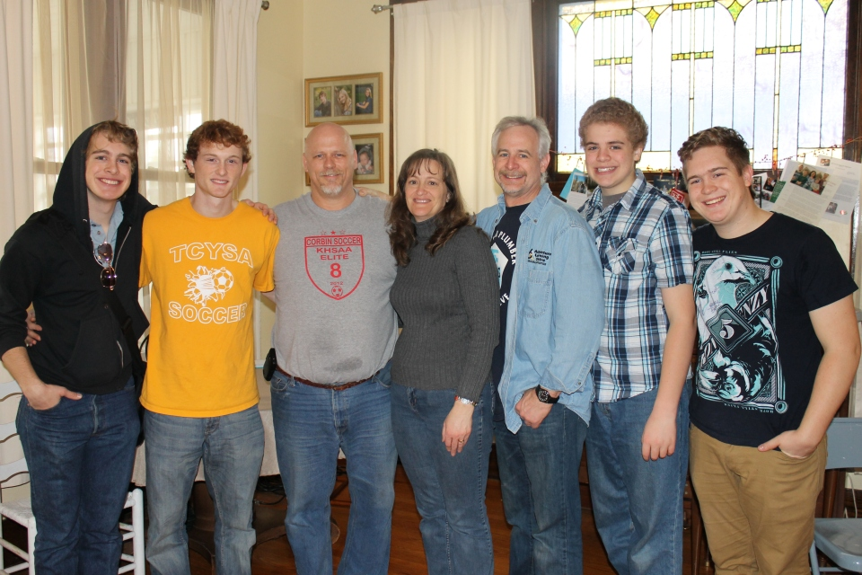 The guys with Ben, Kurt and Lori Felten at their home in Corbin, KY.