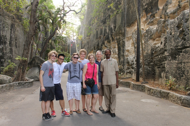 Next stop... The Queen's Staircase.  Mr. Gibson, a Bahamian who told us about the staircase.