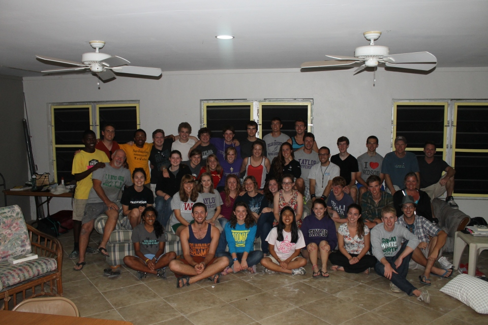 On Sunday night, we got a group shot of the Taylor University students.