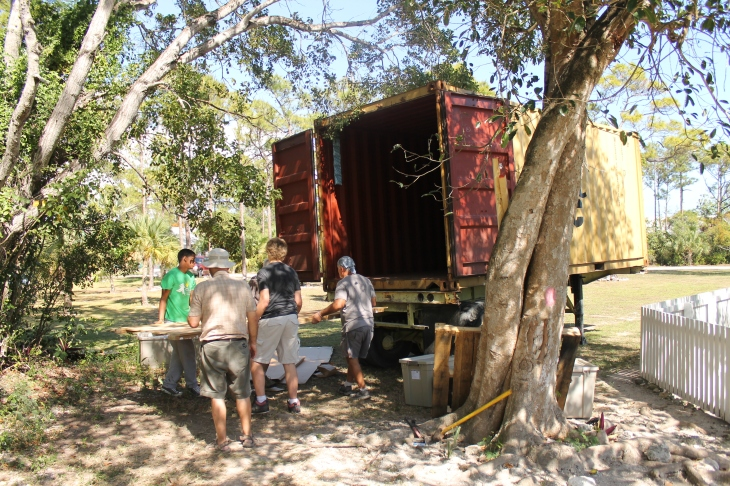 The truck was completely unloaded in less than an hour.  The customs agent gave us no problems.  The only thing she scrutinized was the energy efficient washing machine.  She wanted to make sure it was energy star rated and not regular because the duty is a lot less on the energy star appliances.  Praise the Lord that was done and every thing arrived safely with no damage!