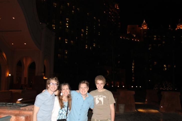 Taking Garrett on a walking tour of Atlantis