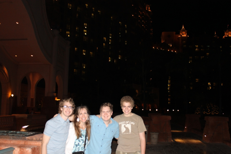 Taking Garrett on a walking tour of Atlantis