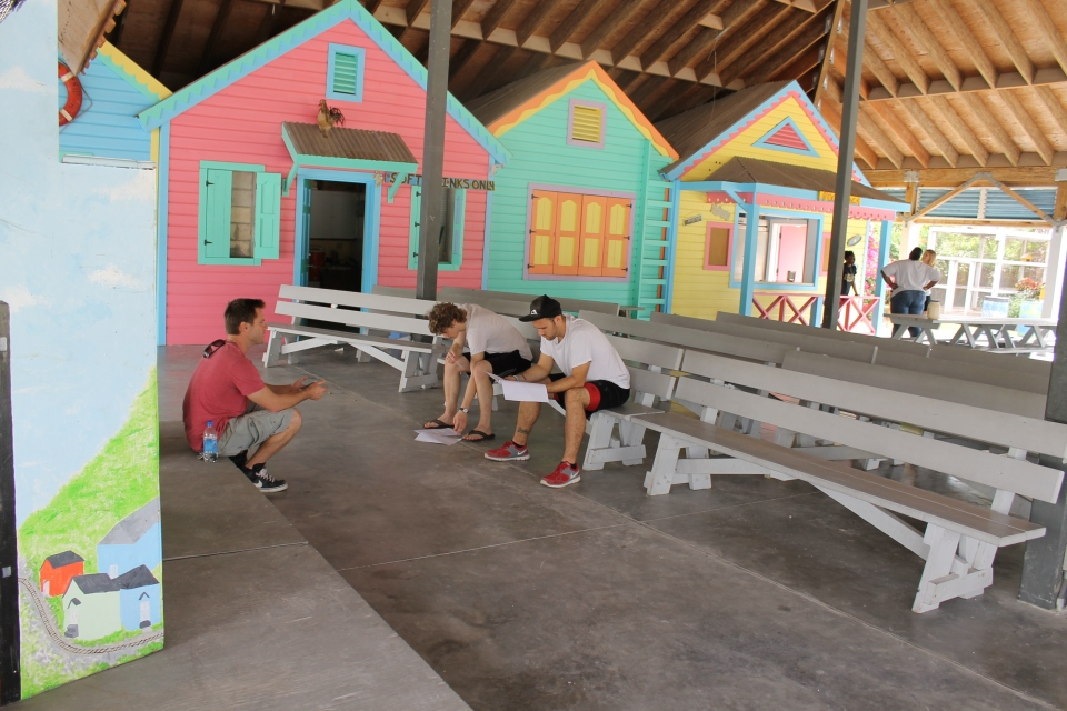 Logan in his first day of facilitator training at the Centre.  We could use more facilitators at the Centre.  If you are college age (or older), like working with children and on various projects, and would like a semester of service, consider coming to The Bahamas a a missionary.  You can spend a semester or year serving with us!