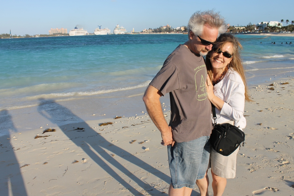 I have been wanting a beach photo of the two of us!  This one will have to do for now.