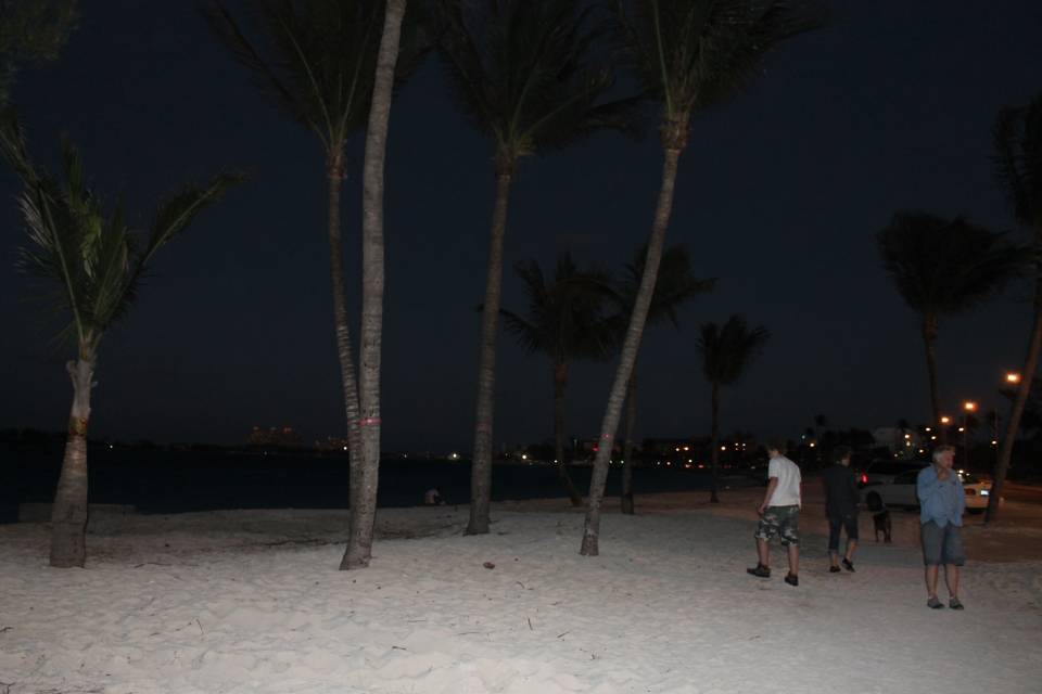 "...and then walked down Western Esplanade Beach after dark.  We had not done a beach walk after dark yet.  It was cold, so we didn't last very long (yes it can get ""cold"" here)."