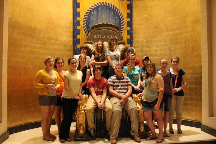 One evening we went with the team to Paradise Island to see Atlantis.