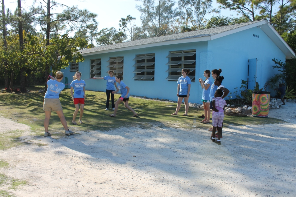 One of the ministry out reaches the King's Academy did was invite the neighborhood children into the camp for a fun day.
