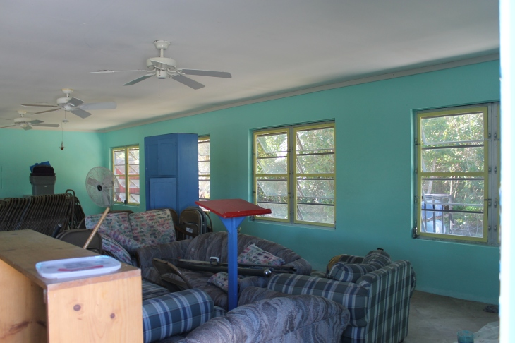 From beige to Bahamian colorful!