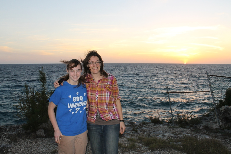 Katie and Sheila had seen the north side of the island, the east side of the island, and stayed with us on the south side of the island.  That left only the west side of the island.  We made it to the west side of the island on Wednesday evening in just enough time to watch the sunset over the western horizon.  It was a perfect ending to a gorgeous day and a wonderful visit.