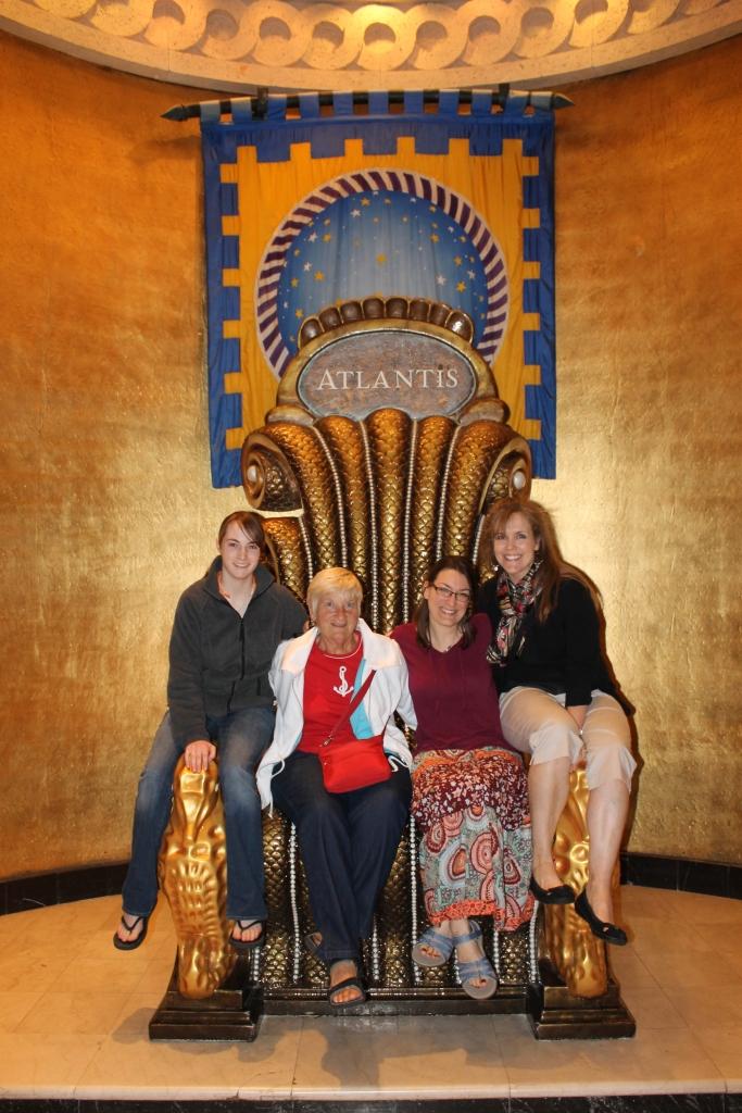 Poseidon's chair at Atlantis.