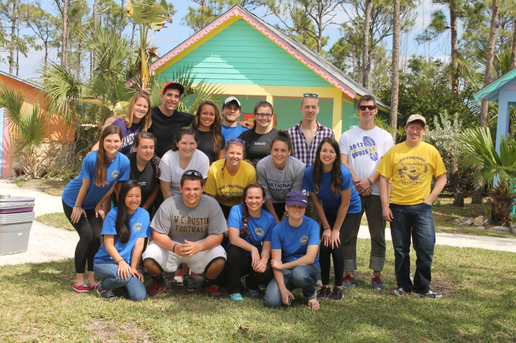 A group of students from James Madison University in Virginia were here for a week to serve at a Bahamian school.