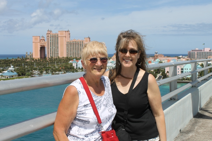We spent most of Monday at the immigration office, but on Tuesday, I took Faye downtown to do some shopping and to walk across the bridge that connects downtown Nassau to Paradise Island.