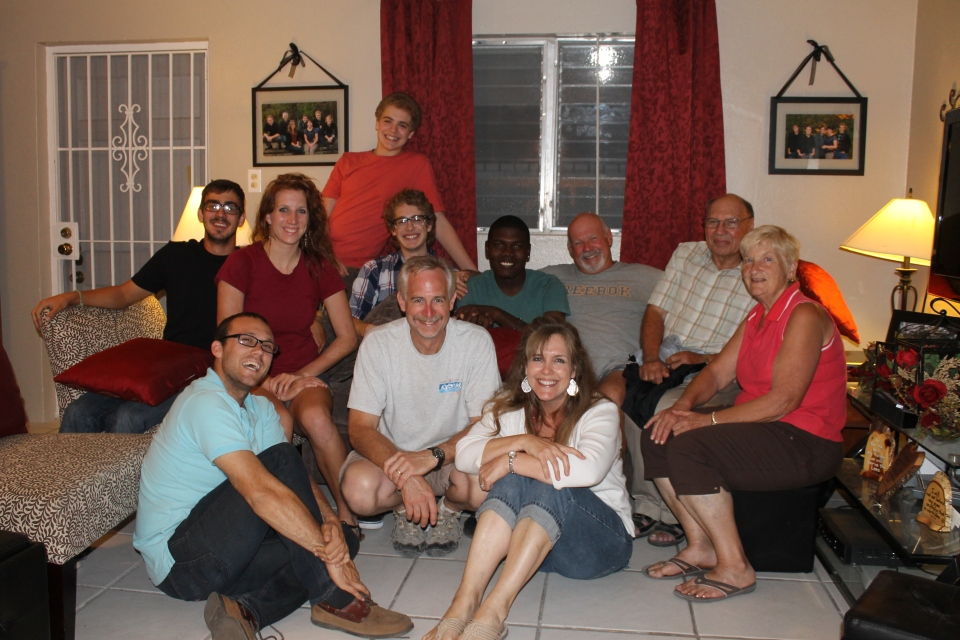 Those present for Kevin's party: Geoff Sousa, Katie Morris, Zachary, Logan, Kevin, Tom, Bob, Faye, Mike, Tim, Mindy.