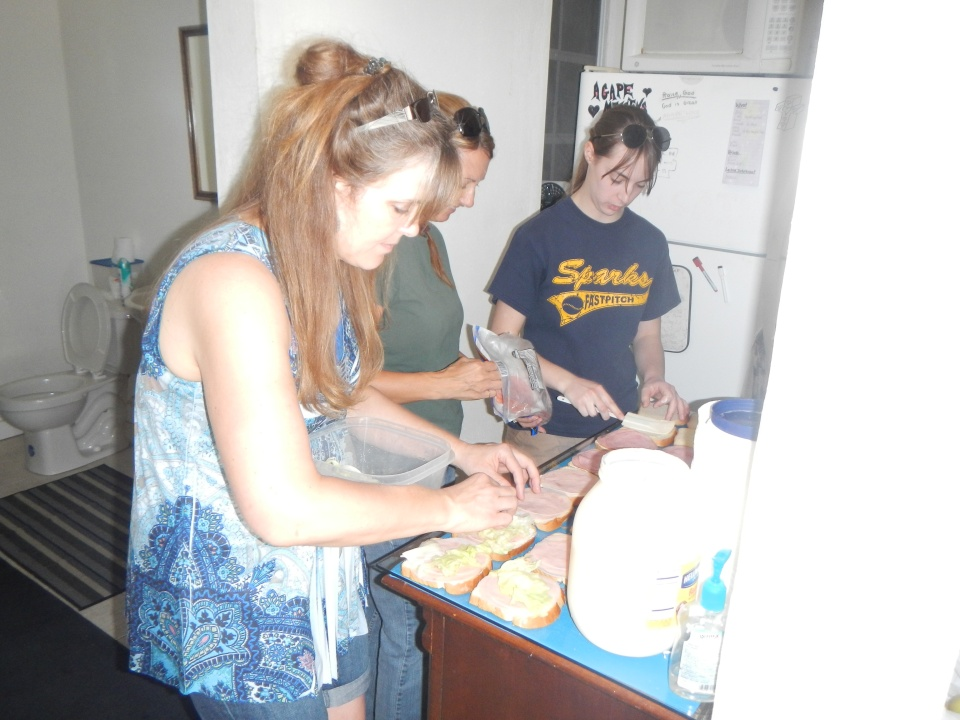 On Wednesday morning, we went to All Saints Camp to help Tim and Felicia Ryan make lunch for the residents.