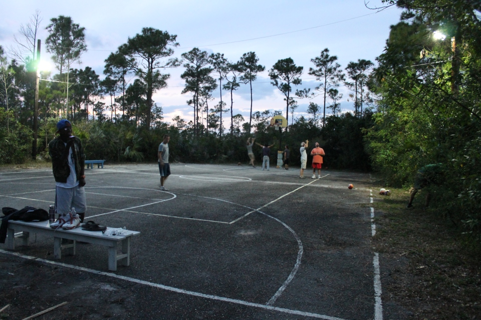 This week we tested out the lights on the camp basketball court.  Tim, the boys, the ALC facilitators, and friends from the Castle ministry got together for an evening of basketball.