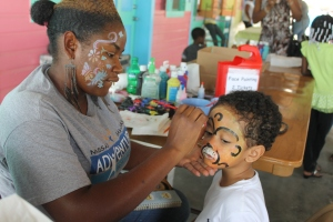 ...face painting...
