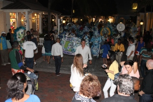 A Bahamian tradition, the Junkanoo Parade (in miniature).
