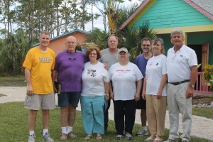 A group of 8 people came from Peace Church in Wilson, NC came to stay at camp and serve at All Saints Camp.