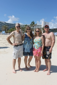 The adults at the beach of the Sheraton Hotel