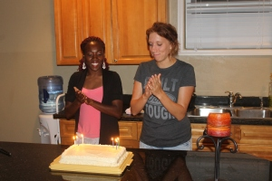 We also celebrated March and April's birthdays.  Happy Birthday, Sam and Katie!