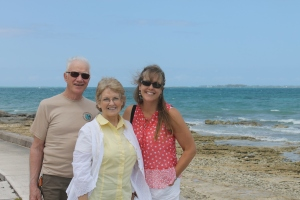 Mindy's parents came to visit us.  This was taken at Montague Bay just east of downtown Nassau and Paradise Island.