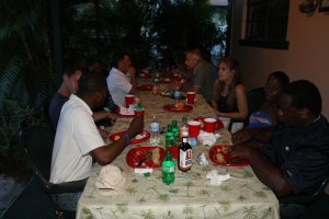 ALC staff got together at Mark and Kim Wallace's house for dinner.