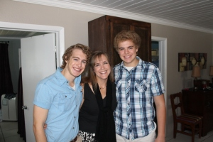 Mother's Day morning with 2 of my 4 boys.  I love being their mom!