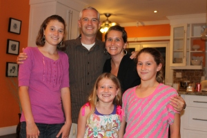 This is Pastor Keith Bunting and his wife Kristin and their 3 daughters.  Keith is the assistant pastor at Kingdom Life Church where we have been attending church.  They came to the island last summer.