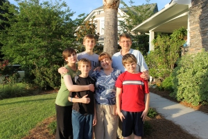 Mindy's sister and her family:  John, Tammy, Megan, Evan, Connor, and Dylan O'Sullivan.  They live in Charleston, SC.  Evan graduated from high school this weekend, thus why we were in Charleston.