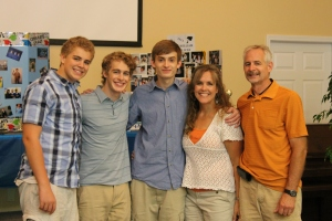 We enjoyed celebrating with Evan at his graduation party.