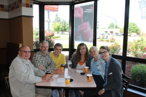 Look who drove 4 hours from their home in London, Ontario Canada to see us in Toledo for one hour.  Bob and Faye Browning joined us for breakfast at on of Jon and Lisa's McDonalds stores.