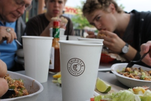 Another restaurant off our bucket list--Chipotle!