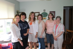 More of the ladies that came.  Thank you Adam and Carole Miller for opening up your home for this get together.
