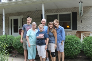 After our over night stay in Chicago, we went to my parent's house in Covington, IN.